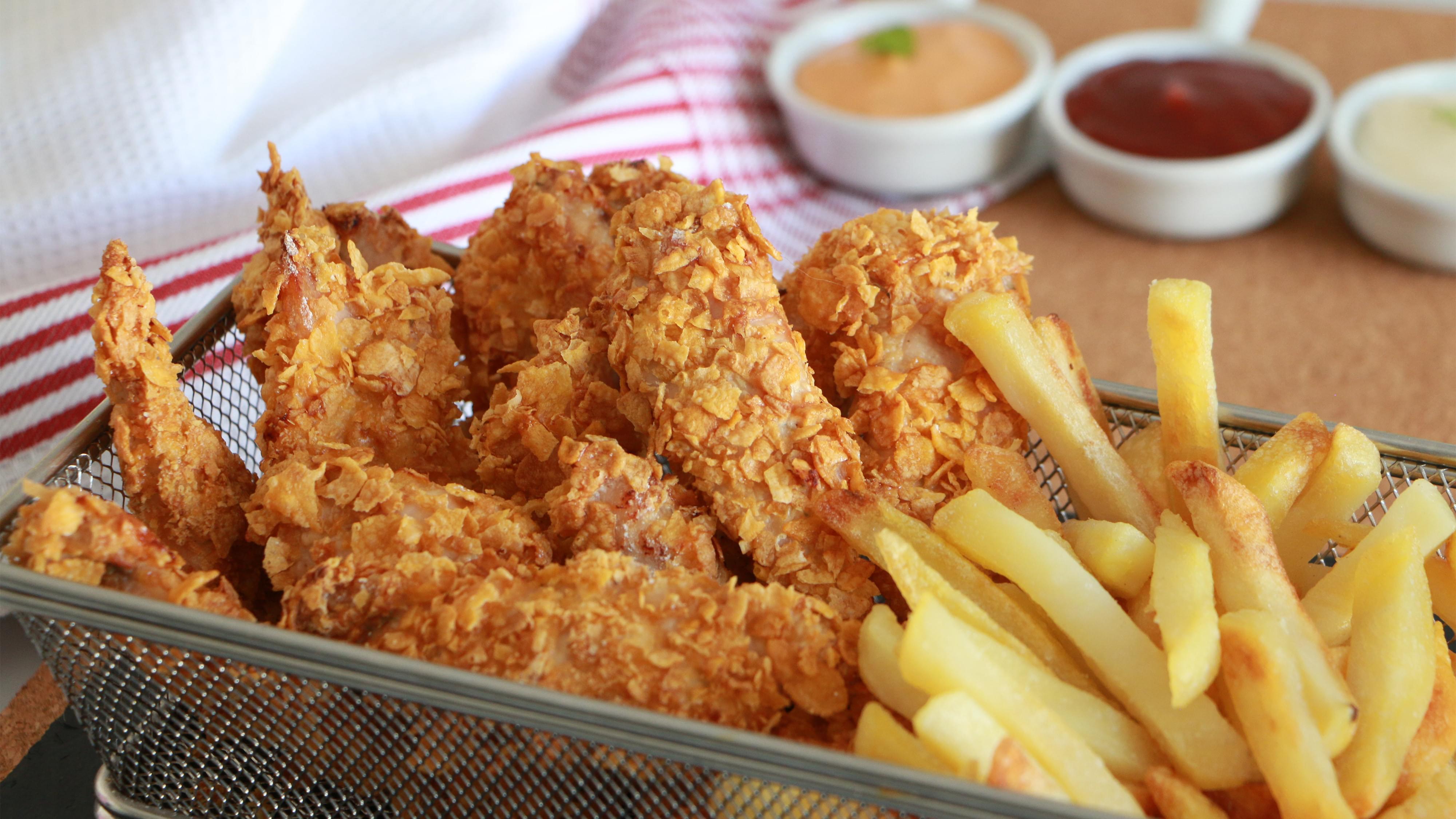 Gluten Free Corn Flakes Breaded Chicken Fingers Recipe